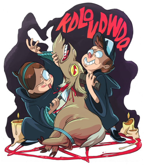 ohpsshaw:    maplepines answered:  mabel and dipper gutting the goat for their satanic rituals   I am waiting for this episode.  (Mr Caesarian is still in session, as far as I'm concerned.)