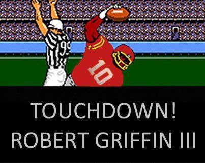 burgundyblog:  Image courtesy of @NQS88.  Tecmo Bowl + RGIII = <3