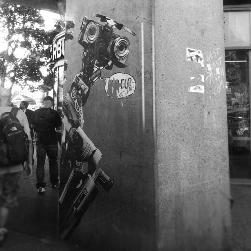 Johnny 5 is alive! #streetart #vancouver #poster (Taken with Instagram)