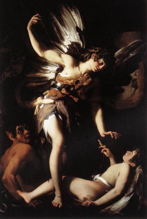 artpedia:  Giovanni Baglione - Sacred and Profane Love, 1602. Oil on canvas