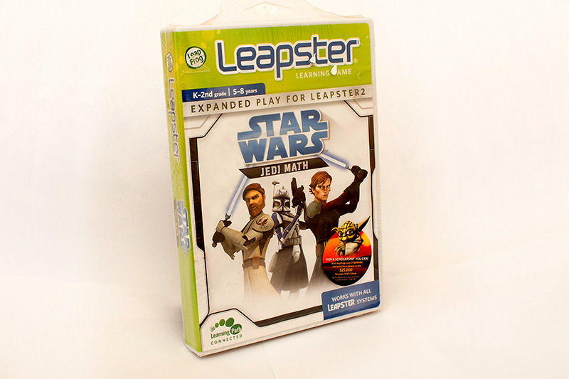 This is the 99th Star Wars videogame in my collection. Jedi Math for the Leapster system.