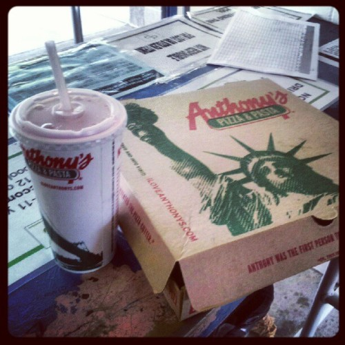 Lunch at work #anthonyspizza #pizza #food #work #life  (Taken with Instagram)