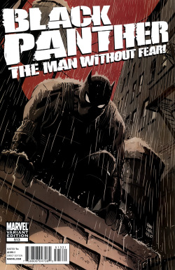 comicbookcovers:  Black Panther - The Man Without Fear #513, February 2011, variant cover by Francesco Francavilla