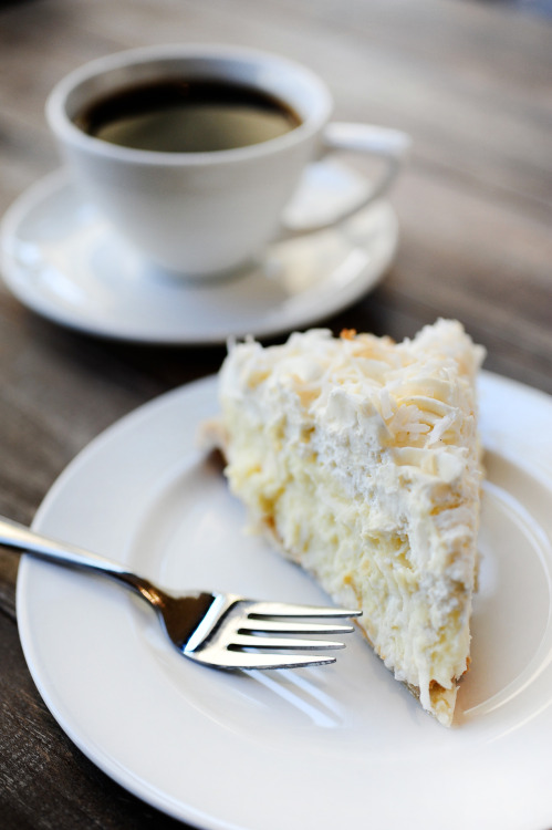 realityphotography:  Everyday is PieDay! Coconut Cream Pie at Ooh La La - Houston, Texas