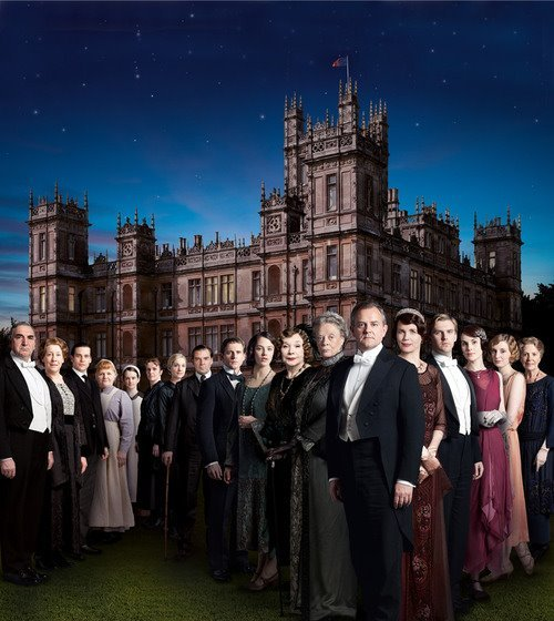 suicideblonde:  Downton Abbey Season 3 poster   oh my lawd <3