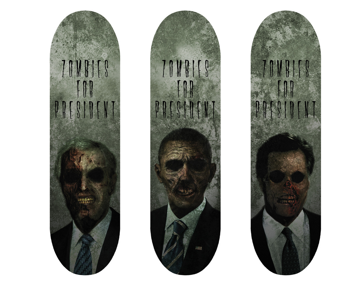 Zombie For President skateboard deck