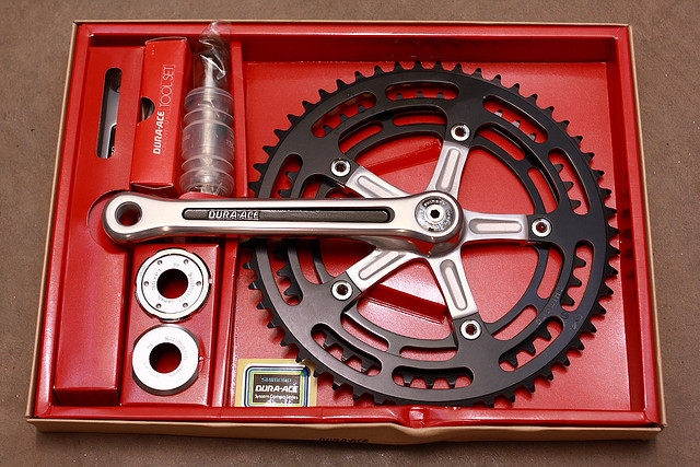 NOS Dura Ace crankset by mrjohan on Flickr.shweesh
