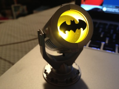 fabulous-tommy:  you're not cool unless you have a miniature bat signal in your room!