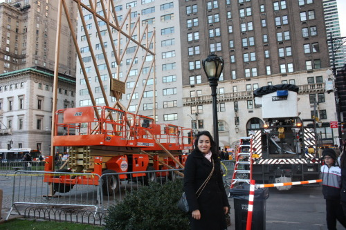 I was in nyc for the holidays. On the news they talked about the largest menorah lighting and so I was really excited to go. It took me forever to find it but I did. I expected something grand but it wasn't really anything spectacular. Either way I was happy that my efforts didn't go to waste because I found it.