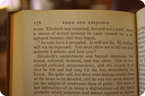 From Pride and Prejudice by Jane Austen.