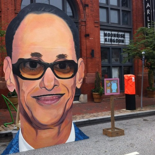 John Waters by David Cobb. #artscape  (Taken with Instagram at Artscape)