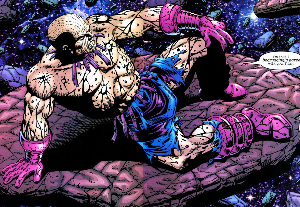That time Galactus' armor got all blown off