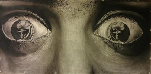 Charcoal drawing. Artist: Lyd Sterba