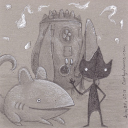Day 3 Some things, Shaun Tan fan art. Eric, companion animal and the lost thing. Also, I will be out of town for the next week so I will post more drawings when I get back!
