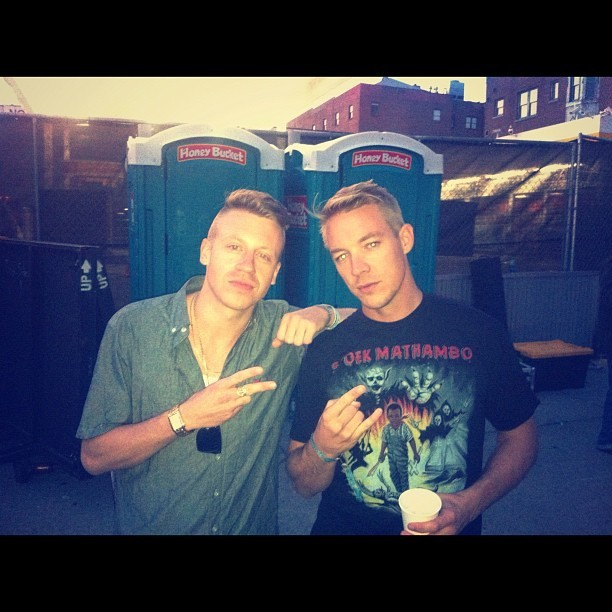 Shout out to #CHBP for giving me and my brother @diplo our own personal bathrooms #westside (Taken with Instagram)