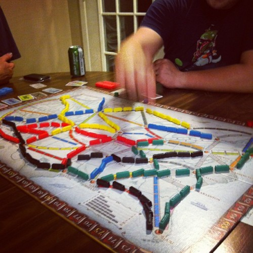 Ticket to ride #boardgames #gamenight  (Taken with Instagram)