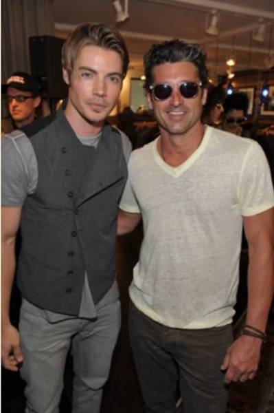fashiondailymag:  josh henderson and patrick dempsey.. at  John Varvatos Malibu Boutique, July 21, 2012 [a private performance featuring Glenn Hughes to celebrate his autobiography: From Deep Purple to Black Country Communion]