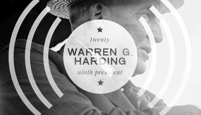 "Twenty-Ninth President: Warren G. Harding (1921-1923) Harding was the first president to be heard on the radio.   ""President Warren G. Harding, while addressing a crowd at the dedication of a memorial site for the composer of the ""Star Spangled Banner,"" Francis Scott Key, becomes the first president to have his voice transmitted by radio. The broadcast heralded a revolutionary shift in how presidents addressed the American public."" -americanhistory.com"