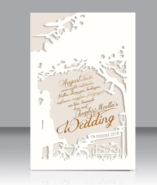 miroz:  Our wedding invitation   Love it