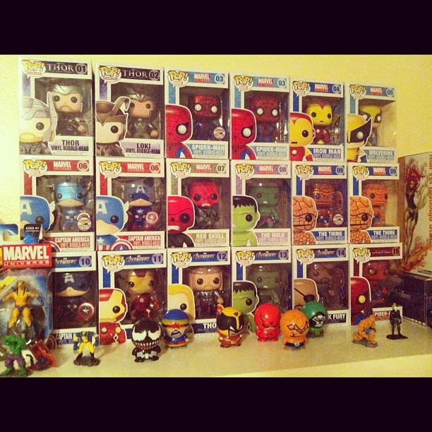 Completed our #Marvel series. #funko #funkopop #follow4funko #funkofamily #avengers #rare #discontinued #popwars  (Taken with Instagram)
