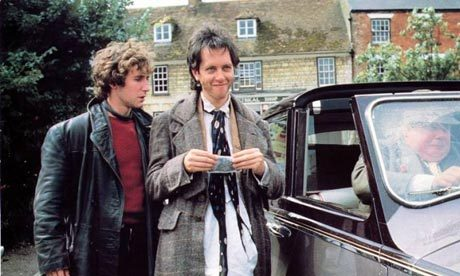 Withnail & I (1987)  Originally written by Bruce Robinson as a novel. Its conclusion is quite different from the film's: after his soliloquy in the rain at the park, Withnail returns to the flat he shared with Marwood, loads the rifle he took from Monty's country home, pours some wine (also taken from Monty) down its barrel, then puts the muzzle to his lips and drinks. He then pulls the trigger on the gun, killing himself. - IMDb