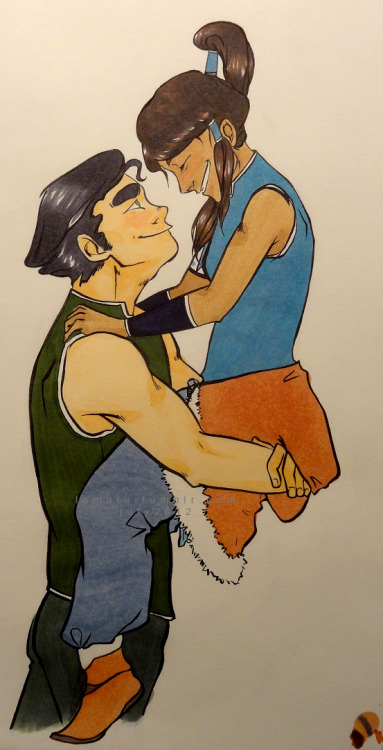 korrashorts:  lamblu:  i like how bolin looks at korra. he has a very gentle smile full of admiration and love  EXCUSE ME WHILE I SOB OVER OTP FEELS