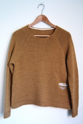 Ochre pocket sweater.
