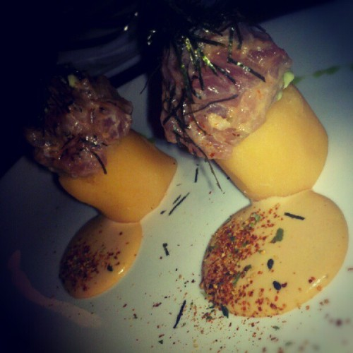 Nikei Causas #lamar #peru #peruvian #peruvianfood #potato #tuna #sf #sfc #sanfrancisco #food #foodporn #foodgasm #instafood #instaperu #lamarcebicheria #instagood #instamood #instahub #instagramhub #igdaily #instagramdaily #igers #igaddict #hashtagsfordays #tagsontagsontags #certifiednonfat #bomby (Taken with Instagram at La Mar)