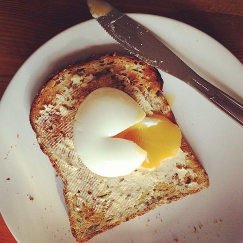 Pac Man breakfast. #food #egg #pacman (Taken with Instagram)