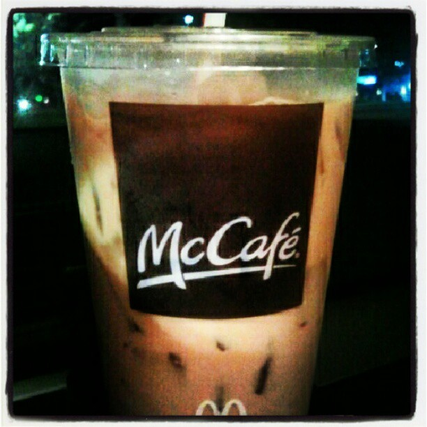 Iced coffee! #McCafe #whenstarbucksisclosed #stayinguptonite #theothersummerdrank (Taken with Instagram)