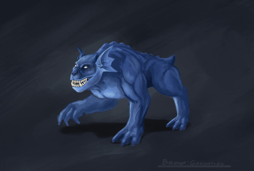 Bronx from Gargoyles. One of my all time favourite cartoons. Think I might start designing the rest of the gang :D