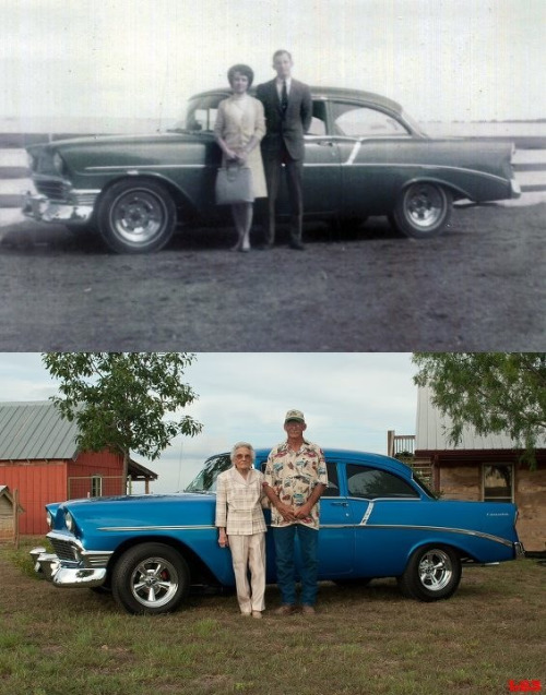 xahhx:  Then and now. So cool.
