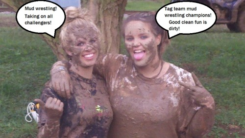 Mud Wrestling Tag Team Champions!
