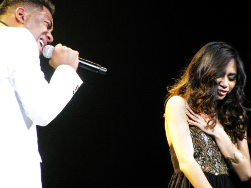 elizabethrosalyn:  Joshua Ledet & Jessica Sanchez in Seattle, Washington 07/18/2012 (Elizabeth Rosalyn)