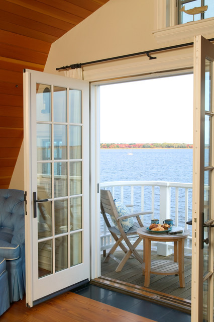 balcony in a Newburyport Riverside home