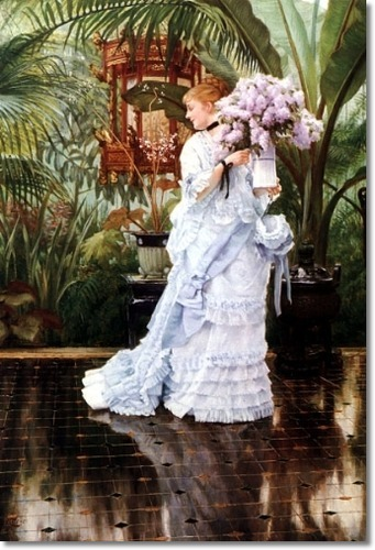 Tissot. The bunch of lilacs