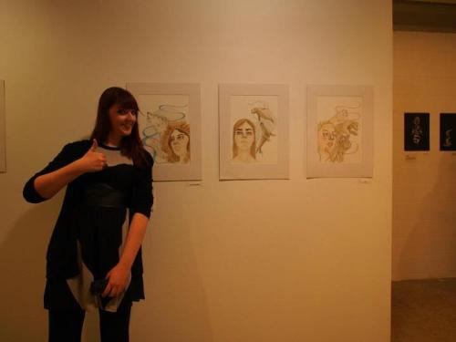 So I took part in my first group exhibition this week. Super fun, everyones work looked great! I'm looking forward to doing some more work on these pieces. Yay! x