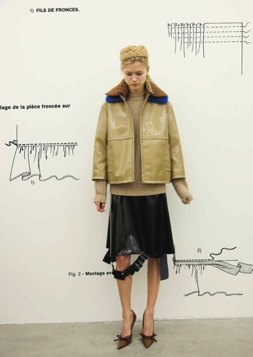 odianne:  Kasia Struss for Prada Fantasy Lookbook F/W 2010 (backstage)