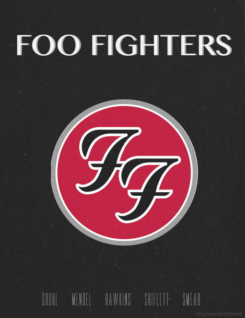 minimal band posters -> Foo Fighters