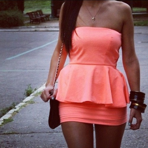Really cute dress! #cute #hot #dress #orange #clothes #fashion #instafashion #bracelets #bag #love #lovley #summer #summernights #want #curves (Taken with Instagram)