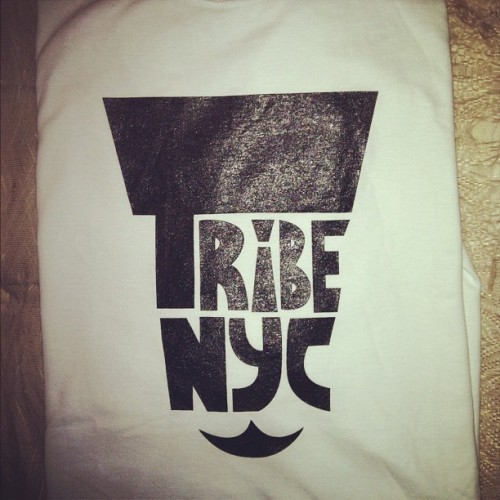 Tribe NYC shirts on sale now 20$ cash , let me know y'all   (Taken with Instagram)