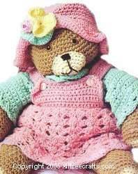 Teddy Bear Clothes to Crochet - Free Crochet Pattern for Teddy Bear or Doll Dress, Underpants, Hat and Shirt