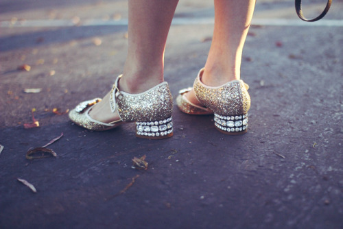 mirnah:  Miu Miu shoes.