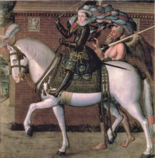thestuartkings:  Henry, Prince of Wales on Horseback By Robert Peake the Elder, 1611