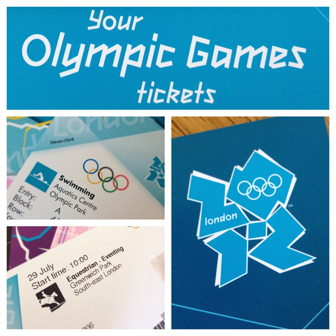Our Olympics tickets have arrived a couple of weeks ago and me and my husband are pretty excited now - we are going to the first event next week (Equestrian Dressage)! We drove past the Olympic Stadium and Village on Friday night and everything looked amazing and ready for next Friday. I am so happy that this is all happening where I live!