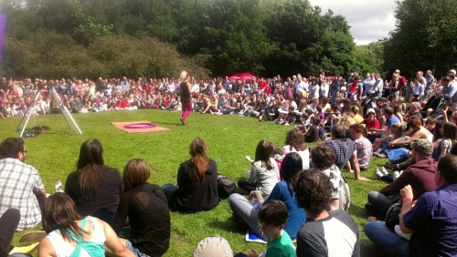 SPWC time at Merrion Square Park