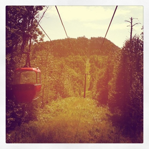 A gondola ride through #Superior #National Forest in #Lutsen #Minnesota (Taken with Instagram)