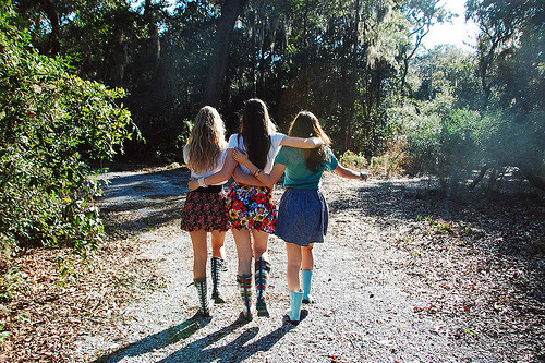 """Okay girls, this way!"" ""Come on Andie, where are you taking us?"" ""Just walk Cissy, you'll see."" Black sisters enjoying thair day. Taken by charmed camera 1976."