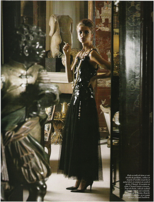 "dormanta:  Daria Werbowy in ""Coco Mademoiselle"" by Karl Lagerfeld for Vogue Paris June/July 2004"