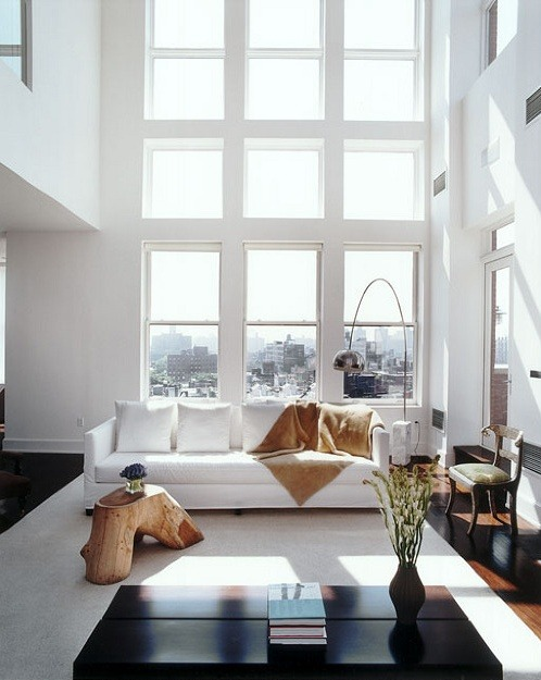 double height (via tiefgang:justthedesign: Living Room)